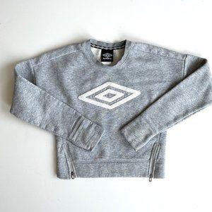 Umbro Girls' Side Zip Fleece Pullover Sweatshirt